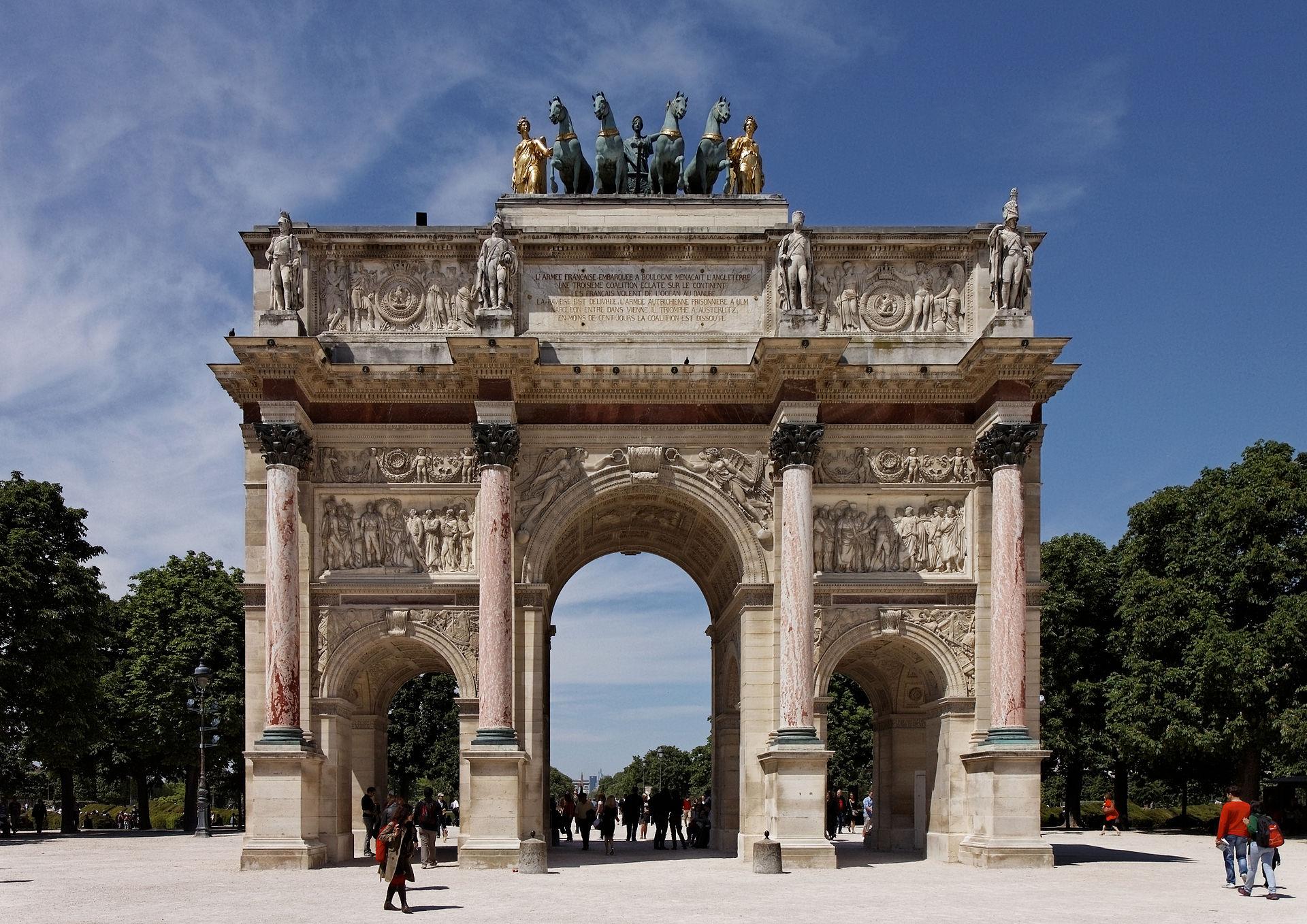Paris_-_Jardin_des_Tuileries_-_Arc_de_Triomphe_du_Carrousel_-_PA00085992_-_003