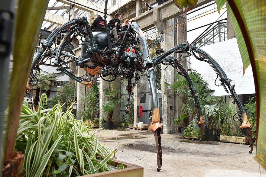 L'araignée. La Galerie des Machines. Les Machines de l'île. Nantes (Loire-Atlantique). © Jean-Dominique Billaud/LVAN
